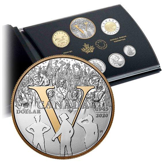2020 カナダ 戦勝75周年記念 銀貨セット プルーフ ブック型パッケージ付き 新品未使用