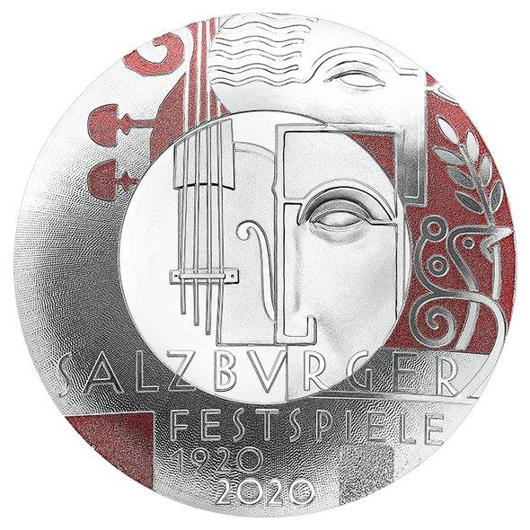 2020 オーストリア ザルツブルク音楽祭百周年記念 20ユーロ銀貨 プルーフ 箱とクリアケース付き 新品未使用