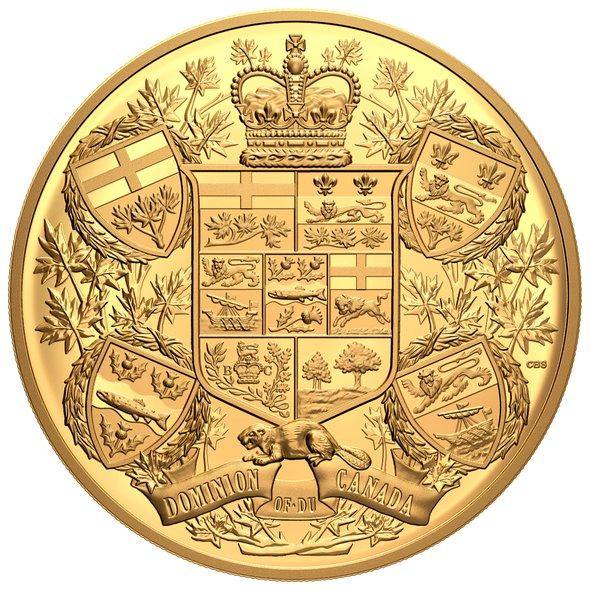 2020 カナダ 1905年カナダの紋章再現 2500ドル金貨 1キロ プルーフ 箱とクリアケース付き 新品未使用