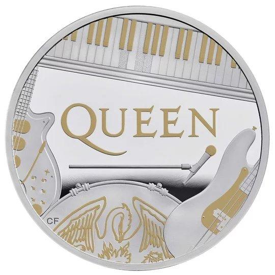 2020 イギリス クィーン 銀貨 1オンス プルーフ 箱とクリアケース付き 新品未使用