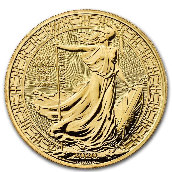 2020 イギリス ブリタニア:Oriental Border 金貨 1オンス 33mmクリアケース付き 新品未使用