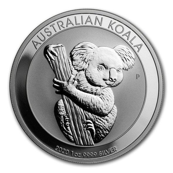 2020 オーストラリア コアラ 銀貨 1オンス 【5枚】セット 41mmクリアケース付き 新品未使用