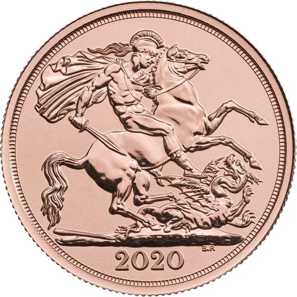 2020 イギリス ダブル・ソブリン金貨 29mmクリアケース付き 新品未使用