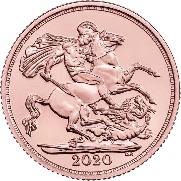 2020 イギリス ソブリン金貨 22.5mmクリアケース付き 新品未使用