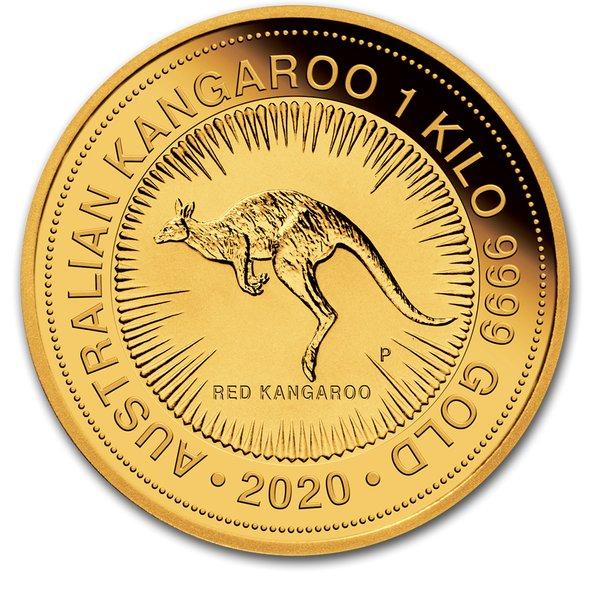 2020 オーストラリア カンガルー金貨 1キロ クリアケース付き 新品未使用