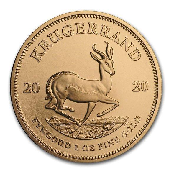 2020 南アフリカ クルーガーランド金貨 1オンス 【33mmクリアーケース付き】 新品未使用