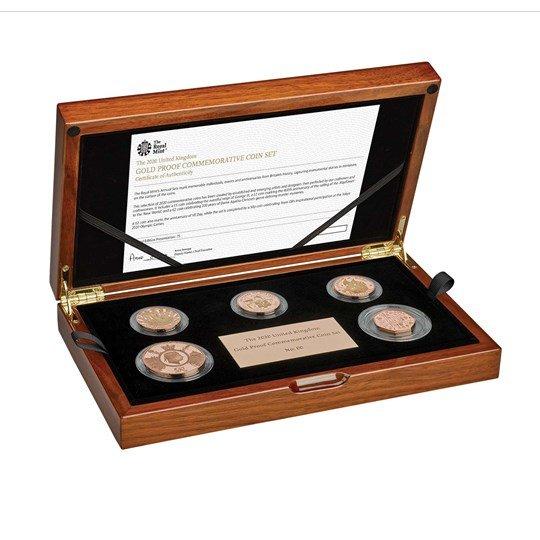 2020 イギリス 2020年銘記念金貨セット プルーフ 箱とクリアケース付き 新品未使用