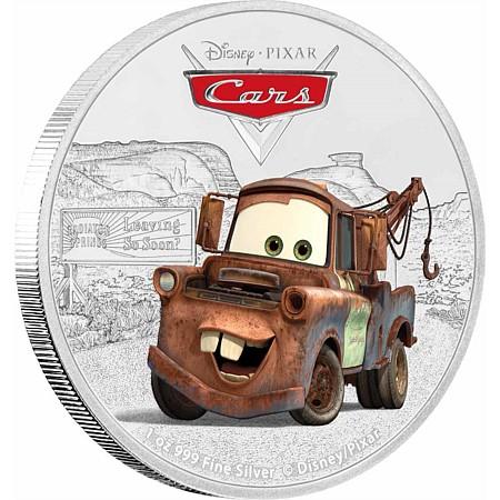 新品未使用 2017 ニュージーランド  ディズニー Tow Mater  1オンス銀貨