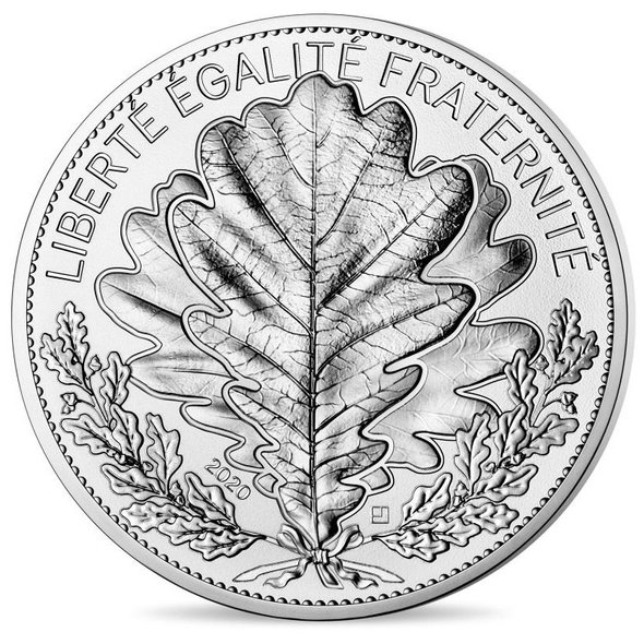2020 フランス オーク 20ユーロ銀貨 プルーフ 箱とクリアケース付き 新品未使用