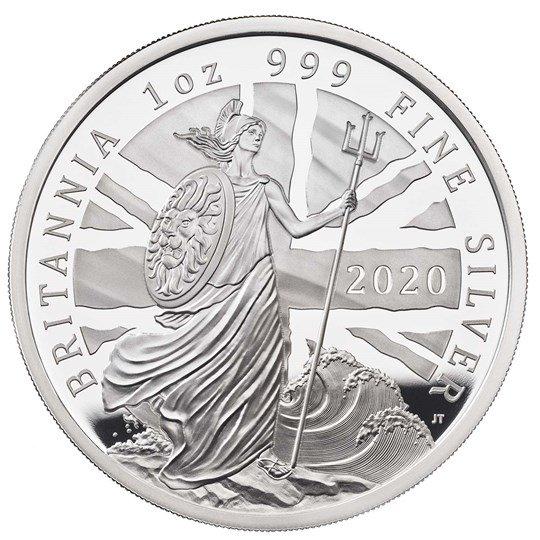 2020 イギリス ブリタニア 銀貨 1オンス プルーフ 箱とクリアケース付き 新品未使用