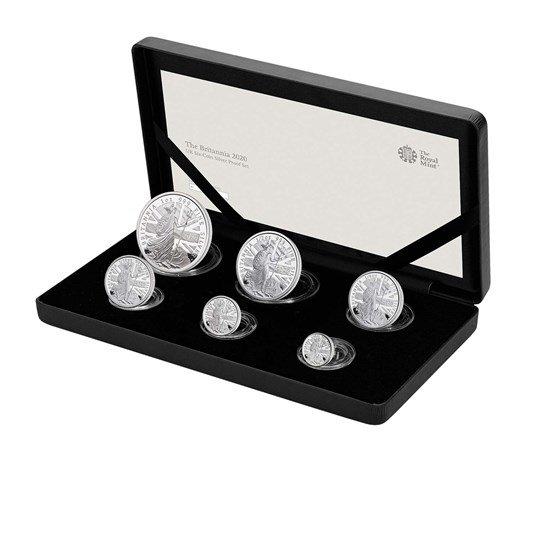 2020 イギリス ブリタニア 銀貨 【6枚】セット プルーフ 箱とクリアケース付き 新品未使用