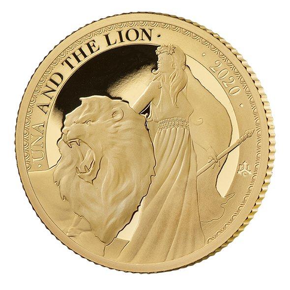 2020 セントヘレナ ウナとライオン 2ポンド金貨 1/4オンス プルーフ 箱とクリアケース付き 新品未使用