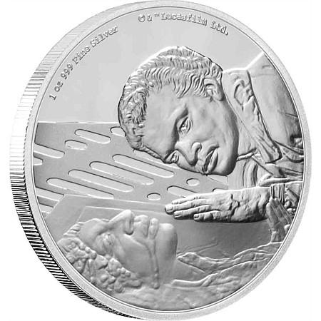 2020 ニウエ スターウォーズ・クラシック:ランド・カルリジアン 2ドル銀貨 1オンス プルーフ 箱とクリアケース付き 新品未使用