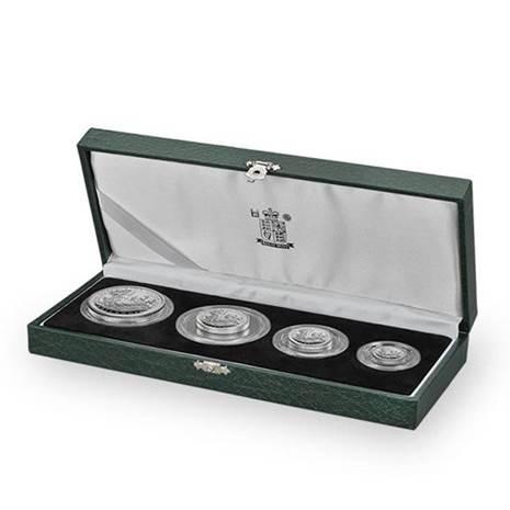 1997 イギリス ブリタニア銀貨 1、1/2、1/4、1/10オンス 【4枚】プルーフセット 箱付き