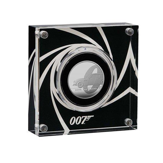 2020 イギリス 007 ジェームズ・ボンド 1ポンド銀貨 1/2オンス プルーフ 箱とクリアケース付き 新品未使用