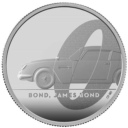 2020 イギリス 007 ジェームズ・ボンド 5ポンド銀貨 2オンス プルーフ 箱とクリアケース付き 新品未使用
