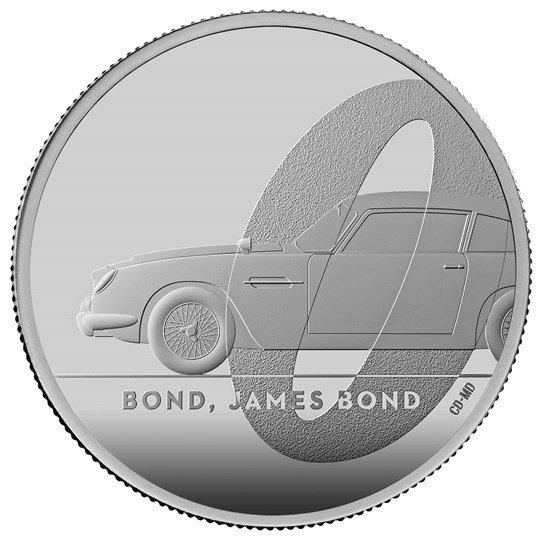 2020 イギリス 007 ジェームズ・ボンド 2ポンド銀貨 1オンス プルーフ 箱とクリアケース付き 新品未使用