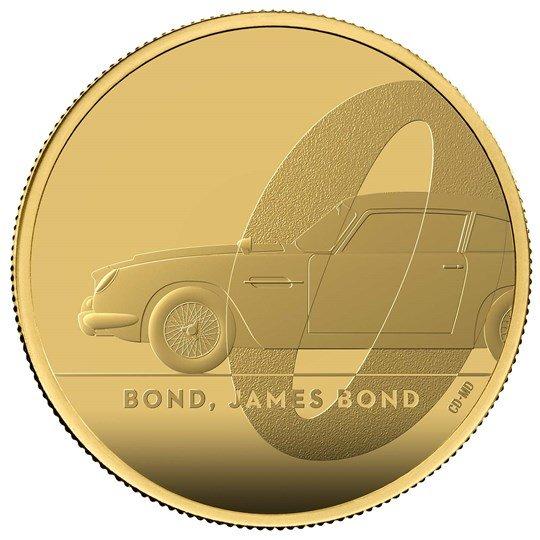 2020 イギリス 007 ジェームズ・ボンド 100ポンド金貨 1オンス プルーフ 箱とクリアケース付き 新品未使用