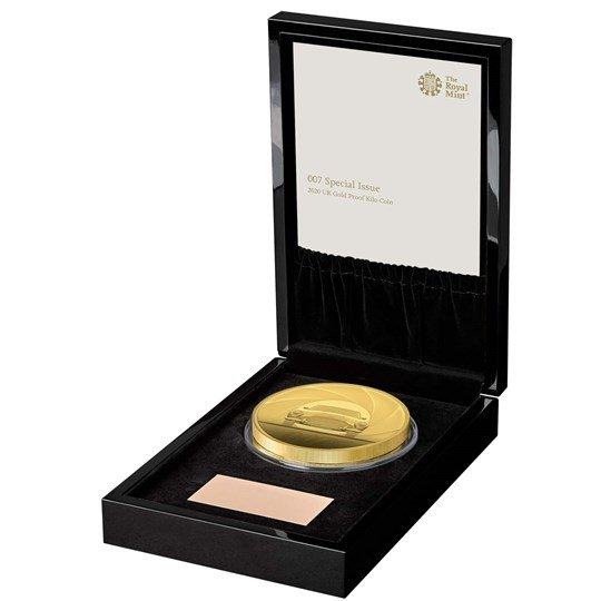 2020 イギリス 007 ジェームズ・ボンド 1000ポンド金貨 1キロ プルーフ 箱とクリアケース付き 新品未使用