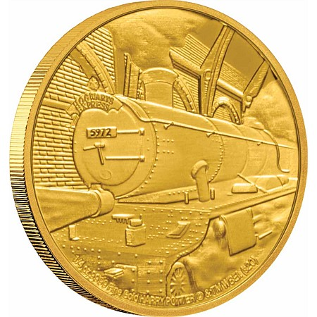 2020 ニウエ ハリーポッター:ホグワーツ特急 25ドル金貨 1/4オンス プルーフ 箱とクリアケース付き 新品未使用