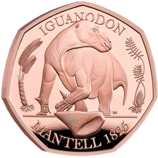2020 イギリス イグアノドン 50ペンス金貨 プルーフ 箱とクリアケース付き 新品未使用