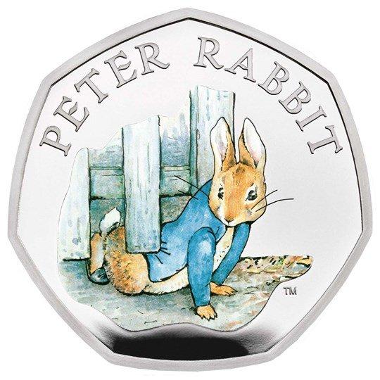 2020 イギリス ピーター・ラビット 銀貨 1/4オンス プルーフ 箱とクリアケース付き 新品未使用