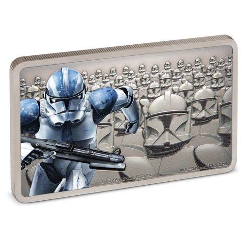 2020 ニウエ スター・ウォーズ:帝国の衛兵クローントルーパー 2ドル銀貨 プルーフ 箱とクリアケース付き 新品未使用