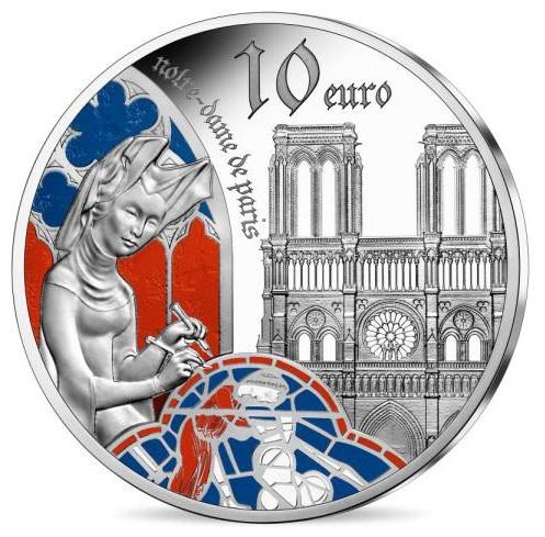 2020 フランス ゴシック時代のヨーロッパ 10ユーロ銀貨 1オンス プルーフ 箱とクリアケース付き 新品未使用