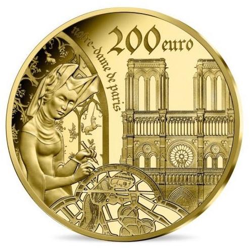 2020 フランス ゴシック時代のヨーロッパ 200ユーロ金貨 プルーフ 箱とクリアケース付き 新品未使用