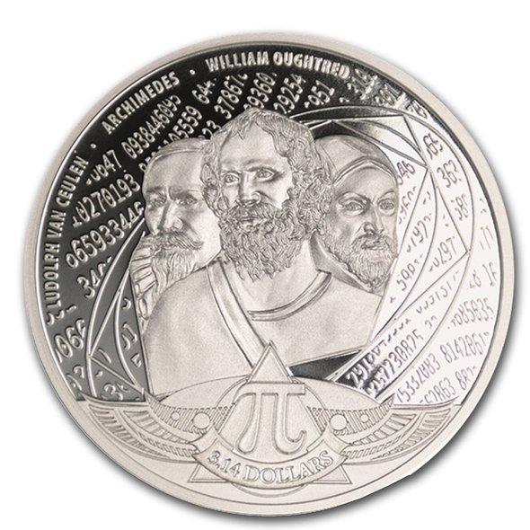 2020 ソロモン諸島 π 3.14ドル銀貨 1オンス プルーフ ブリスターパック付き 新品未使用