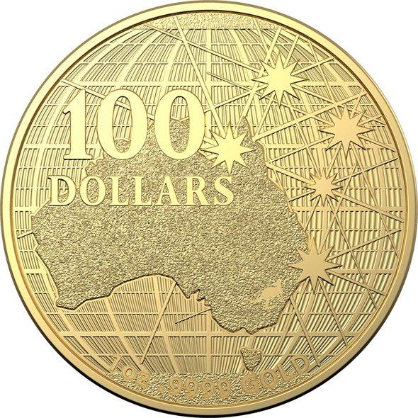 2020 オーストラリア 南十字星の下 100ドル金貨 1オンス 39mmクリアケース付き 新品未使用