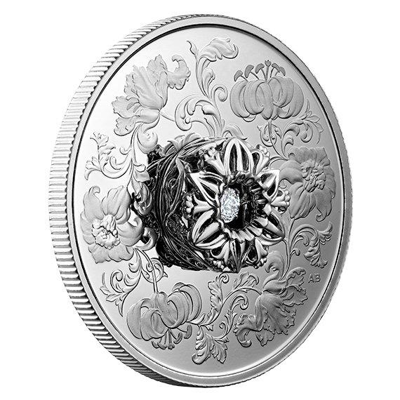 2020 カナダ 踊るダイヤモンド:ハートのきらめき 20ドル銀貨 プルーフ 箱とクリアケース付き 新品未使用