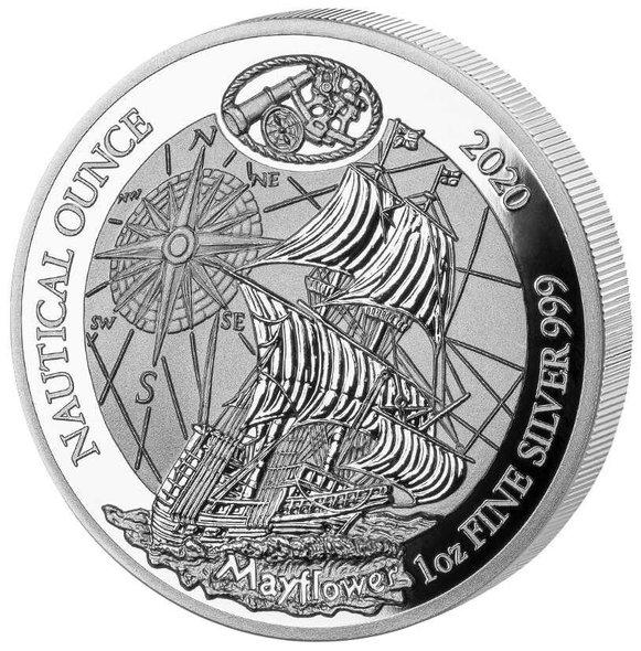 2020 ルワンダ メイフラワー 50フラン銀貨 1オンス プルーフ 箱とクリアケース付き 新品未使用
