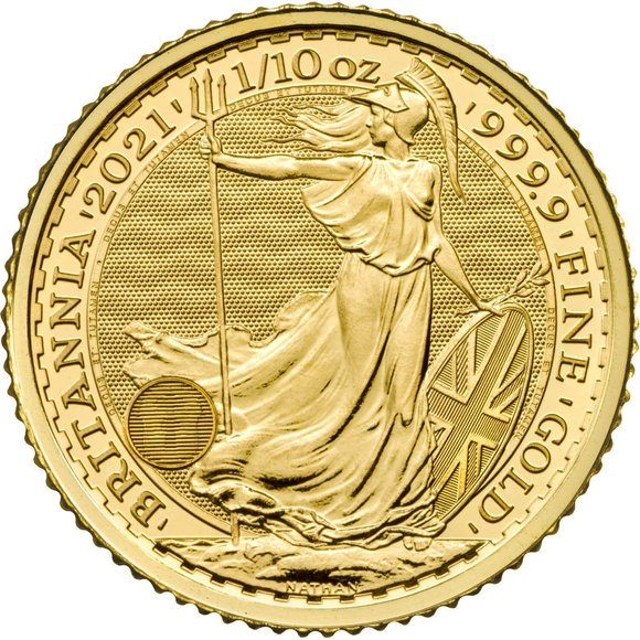 ※本物保証・送料無料※  2021 イギリス ブリタニア 金貨 1/10オンス 16.5mmクリアケース付き 新品未使用