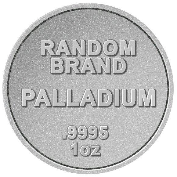 ※本物保証 マーケット 高級 送料無料※ ランダムブランド パラジウムコイン 新品未使用 1オンス クリアケース付き