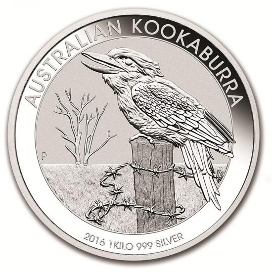 新品未使用 2016オーストラリア クッカバラ(カワセミ) 銀貨 1オンス?【5枚】セット クリアーケース付き