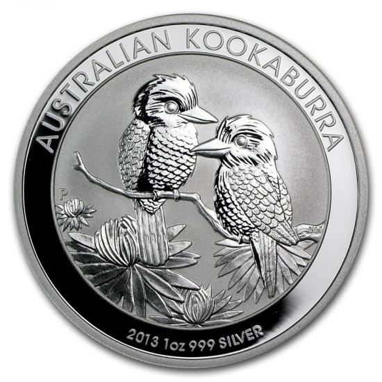 新品未使用 2013 オーストラリア クッカバラ(カワセミ) 銀貨 1オンス クリアーケース付き
