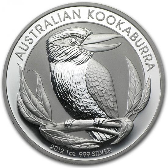 新品未使用 2012 オーストラリア クッカバラ(カワセミ) 銀貨 1オンス クリアーケース付き