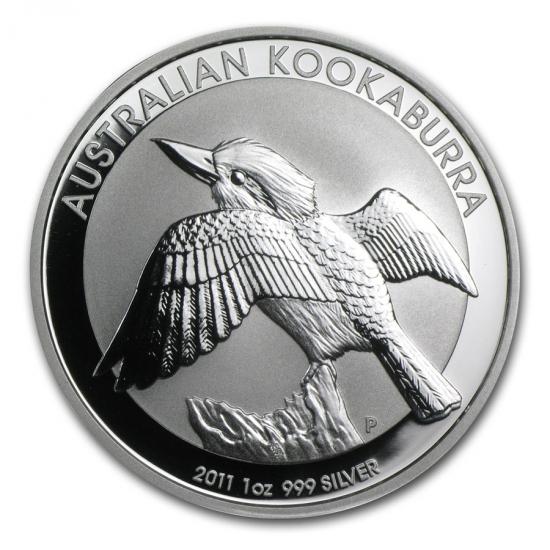 新品未使用 2011 オーストラリア クッカバラ(カワセミ) 銀貨 1オンス クリアーケース付き