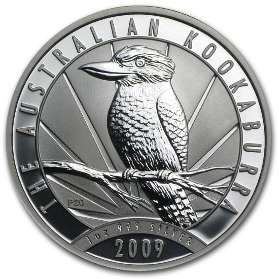 新品未使用 2009 オーストラリア クッカバラ(カワセミ) 銀貨 1オンス クリアーケース付き