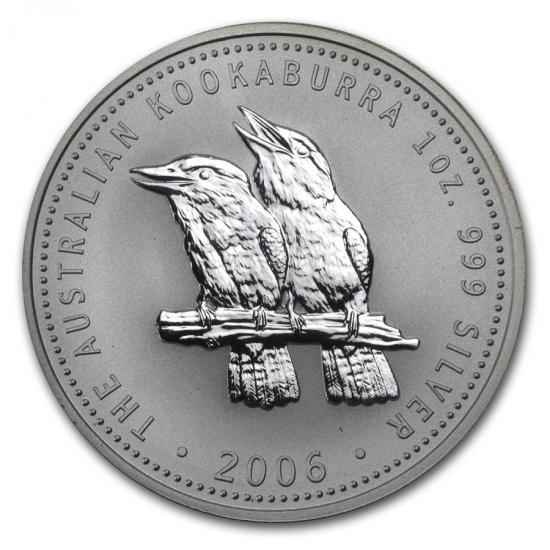 新品未使用 2006 オーストラリア クッカバラ(カワセミ) 銀貨 1オンス クリアーケース付き