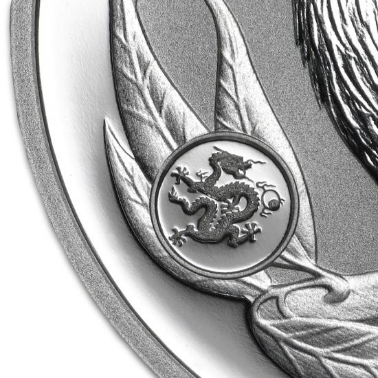 新品未使用 2012 オーストラリア クッカバラ(カワセミ)【ドラゴン】 銀貨 1オンス クリアーケース付き