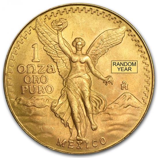 メキシコ リベルタッド金貨 ランダムイヤー 1オンス 34mmクリアーケース付き