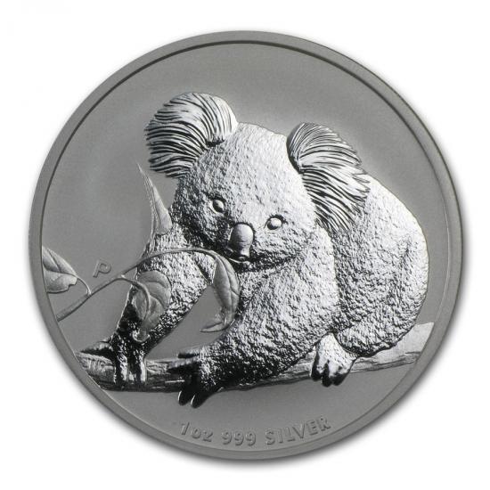 新品未使用 2010 オーストラリア コアラ銀貨 1オンス クリアーケース付き