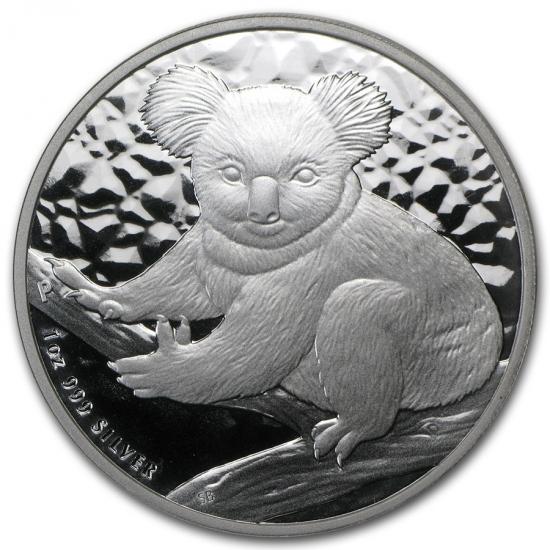 新品未使用 2009 オーストラリア コアラ銀貨 1オンス クリアーケース付き