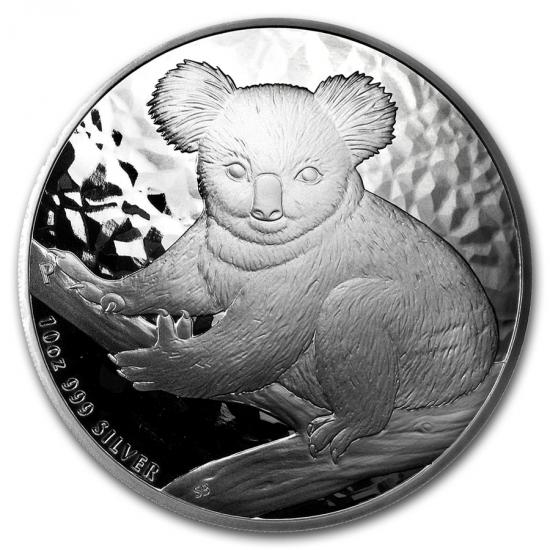 新品未使用 2009 オーストラリア コアラ銀貨 10オンス クリアーケース付き