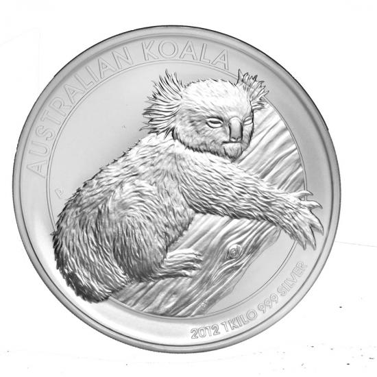 新品未使用 2012 オーストラリア コアラ銀貨 【1キロ】 クリアーケース付き