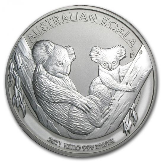 新品未使用 2011 オーストラリア コアラ銀貨 【1キロ】 クリアーケース付き