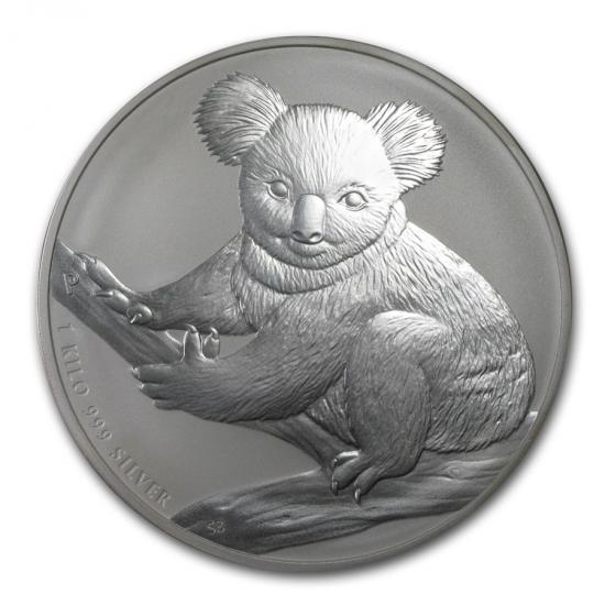 新品未使用 2009 オーストラリア コアラ銀貨 【1キロ】 クリアーケース付き