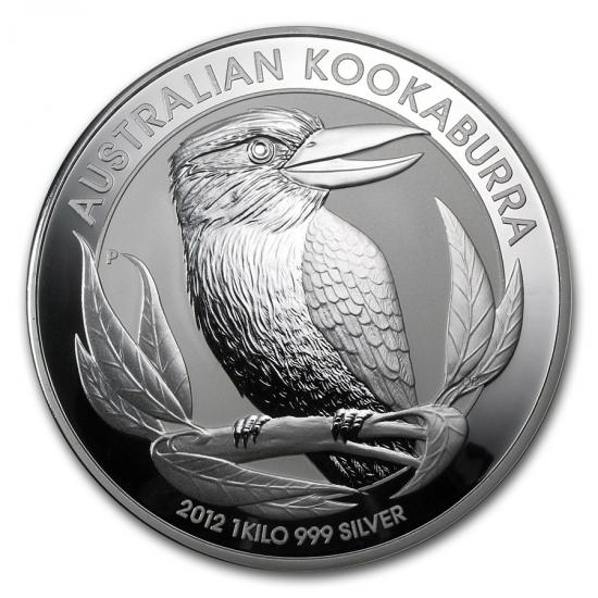 新品未使用 2012  オーストラリア クッカバラ(カワセミ)30ドル銀貨 1キロ クリアーケース付き